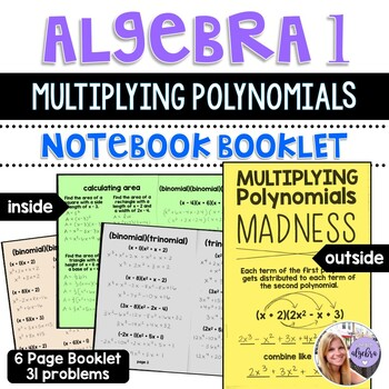 Algebra 1 - Multiplying Polynomials MADNESS - Foldable Booklet