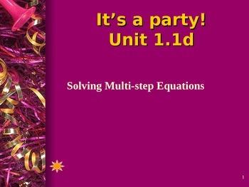 Algebra 1 Multistep equations