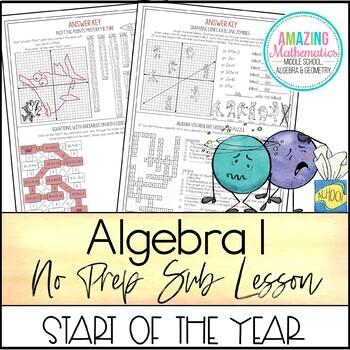 Algebra 1 No Prep Sub Lesson