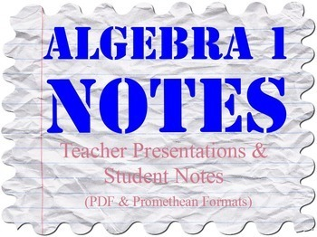 Algebra 1 Notes Bundle for Full Year