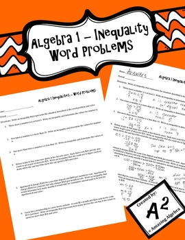 Algebra 1 - One Variable Inequality Word Problems