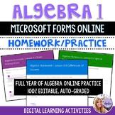 Algebra 1 - Online Practice & Homework Using Microsoft For