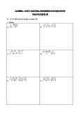 Algebra 1 Operations of Rational Expressions and Equations