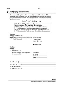 Algebra 1: Operations with Polynomials