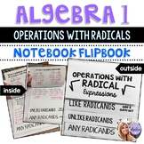 Algebra 1 - Operations with Radical Expressions - Foldable FlipBook
