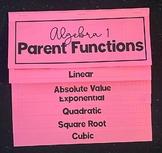 Algebra 1 Parent Functions (Mega Foldable)