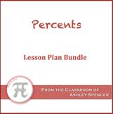 Percents Lesson Plan Bundle