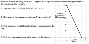 Algebra 1 Performance Task - Running a Race Project - Common Core