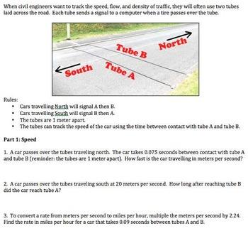 Algebra 1 - Performance Task - Traffic Study Project - Com