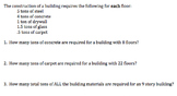 Algebra 1 Performance Task on Constructing a Building (Common Core)