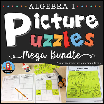 Algebra 1 Picture Puzzles BUNDLE