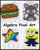 Algebra Coloring Activity Pixel Art (Bundle)