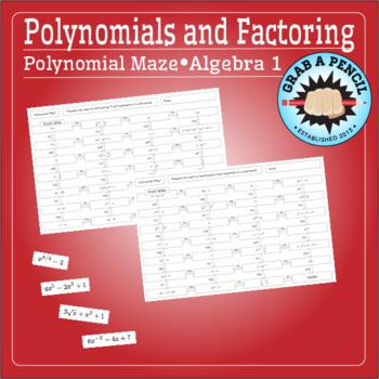 Algebra 1: Polynomial Maze