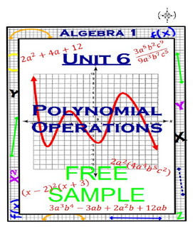 Algebra 1 - Polynomial Operations Unit - FREE SAMPLE