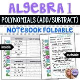Algebra 1 - Polynomials - Type, Degree, Standard Form Foldable