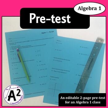 Algebra 1 - Pre-test