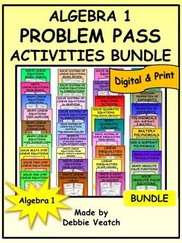 Algebra 1 Problem Pass Activities Bundle
