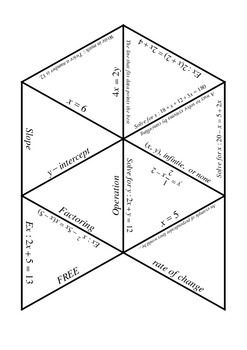 Algebra 1 Puzzle
