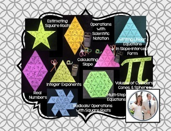 PUZZLES for Middle School Math & Algebra 1 (Bundle)