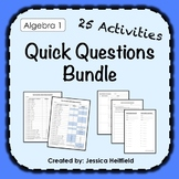Algebra 1 Activities Bundle: Fix Common Mistakes!