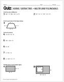 Algebra 1 Quiz (Adding, Subtracting, & Multiplying Polynomials)