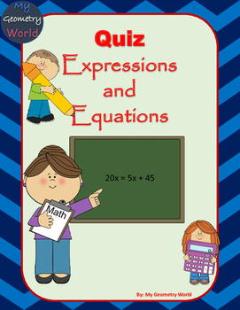 Algebra 1 Quiz: Expressions and Equations