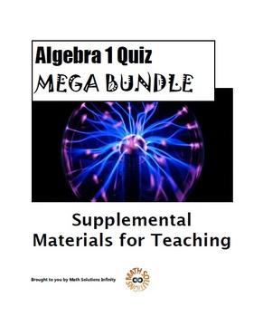 Algebra 1 Quiz MEGA BUNDLE