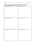 Algebra 1 Quiz - Solving Linear Equations and Inequalities BUNDLE