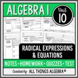 Radical Expressions and Equations (Algebra 1 Curriculum - Unit 11)