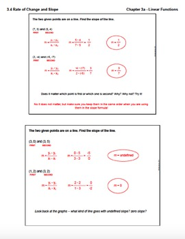 Rate of Change and Slope (Lesson Plan with Homework)