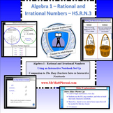 Algebra 1 - Rational vs. Irrational Numbers - HS.N.RN.3 -