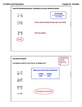 Ratios and Proportions (Lesson Plan with Homework)