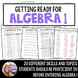 Algebra 1 - Readiness Prep / Summer Packet for Students Go