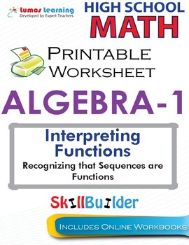 Algebra 1 Recognizing that Sequences are Functions