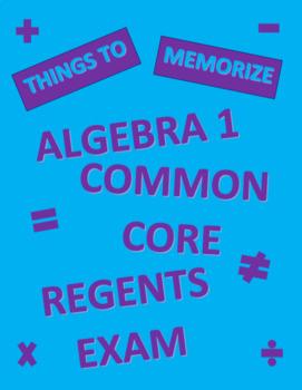 Algebra 1 Regents Exam Memorization