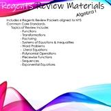 Algebra 1 Regents Review Packets