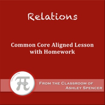 Relations (Lesson Plan with Homework)