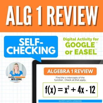 Algebra 1 Review Activity - GOOGLE DRIVE ACTIVITY