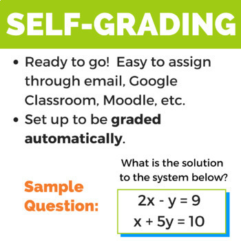 Algebra 1 Review Activity for Google Drive