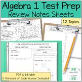 Algebra 1 Review Sheet BUNDLE (NYS Algebra 1 Regents Prep)