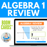 Algebra 1 Review Boom Cards #stemdollardeals