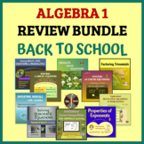 ALGEBRA 1 REVIEW BUNDLE - Back to School or Get Ready for