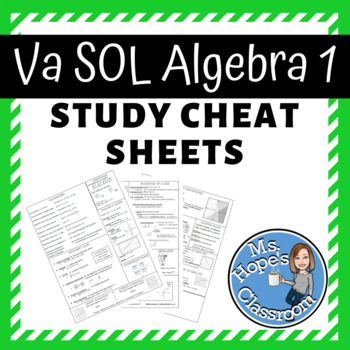 Algebra 1 Review Cheat Sheet for SOL!