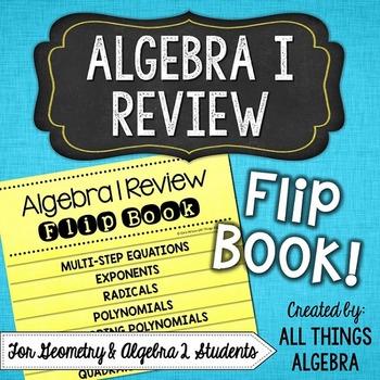 Algebra 1 Review Flip Book
