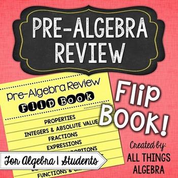 Pre-Algebra Review Flip Book