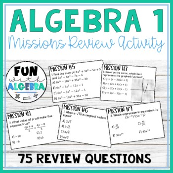 Algebra 1 Review Missions Game