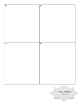 Algebra 1 Review Puzzle:Equations, Word Problems, Ratios, Inequalities