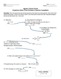 Algebra 1 Review Puzzle:Equations, Word Problems, Ratios,