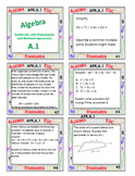 Algebra 1 Review Task Cards