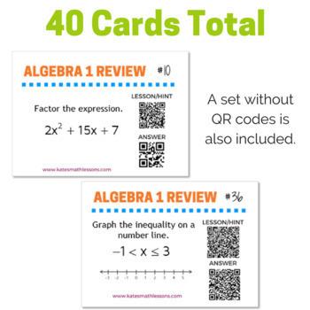 Algebra 1 Review Task Cards